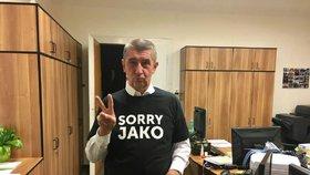"Andrej Babiš a jeho ""dres"" sorry jako"