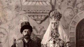 Car Mikuláš II. a jeho žena Alexandra Fjodorovna Ruská