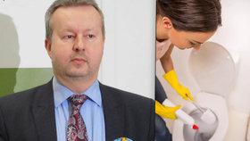 Ministr životního prostředí Richard Brabec je proti splachování pitnou vodou - chce využít dešťovku i šedou vodu.