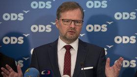 Předseda ODS Petr Fiala na čtvrteční tiskové konferenci k zahájení jarní části kampaně