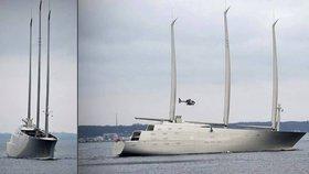 Nejvyšší jachta světa už brouzdá mořem.