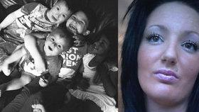 Máma čtyř dětí Sadie Blackston zemřela na rakovinu.