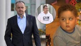 Andrej Kiska zařídil, aby se malý chlapec s nádorem mohl setkat se svým otcem.
