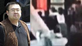 Kamery na letišti pravděpodobně zachytily okamžik Kimovy otravy.