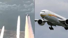 Boeing 777-300 Jet Airways se nad Českem přestal hlásit.