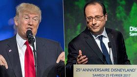 Donald Trump urazil Pařížany. Francois Hollande mu za to chce poslat lístek do Disneylandu.