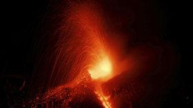 Výbuch Etny z roku 2017