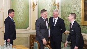 Britský ministr pro brexit David Davis na setkání se slovenskými politiky
