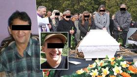 Poslední rozloučení s tátou a synem, kteří zemřeli při požáru v Jirkově