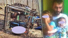 Tragédie: Otce dvou dětí zavalil traktor.
