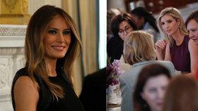 Oslava MDŽ v Bílém domě: Melania Trumpová zorganizovala slavnostní oběd, nechyběla ani Trumpova dcera Ivanka.