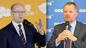 Do premiéra Sobotky (ČSSD) se navezl šéf ODS Petr Fiala