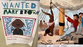 Lekce ze stinných stránek dějin: Děti kreslily plakáty lákající na dražbu otroků.