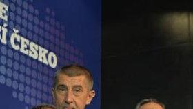 Vedení hnutí ANO na volebním sněmu, únor 2017. Andrej Babiš, Jaroslava Jermanová