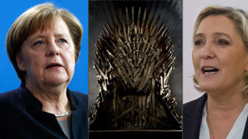 Angela Merkelová se snaží uhájit svůj trůn, Marine Le Penová ten francouzský dobýt.