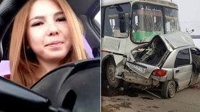 Sitora Baratova zemřela při autonehodě, kterou vysílala živě na internetu.