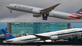 Americké aerolinky  American Airlines získají podíl v China Southern Airlines.