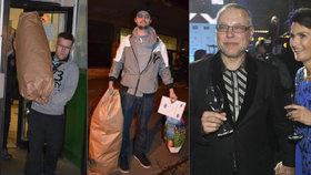 Horníci z Dolu Paskov a miliardář Zdeněk Bakala s manželkou Michaelou