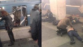 V ruském Petrohradu exlodovala bomba v metru. Zřejmě ji odpálil sebevražedný útočník z Asie