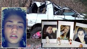Policie obvinila řidiče (18, vlevo), který při nehodě zabil tři kamarády.