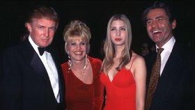 Donald Trump, Ivana Trumpová a jejich dcera Ivanka