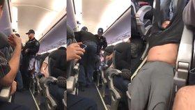 Brutální zásah policie v letadle: Lékaři rozbili hlavu o sedačku, protože odmítal vystoupit.