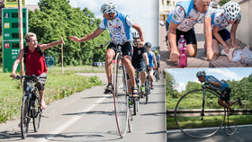 Josef (60) objel na vysokém kole sedmkrát celou zeměkouli, nyní pomáhá onkologicky nemocným dětem.