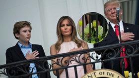 Bez Melanie Trump by americký prezident ruku na hruď při hymně nepoložil.