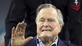 Bývalý americký prezident George Bush starší byl dnes ve státě Maine hospitalizován kvůli nízkému tlaku a vyčerpání.