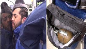 Policie zadržela bratra teroristů z Petrohradu, měl u sebe granát.