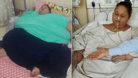 Iman Ahmad Abdulati po operaci »zhubla« 250 kilo.