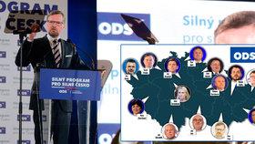 ODS představila oficiálně lídry pro sněmovní volby. Předseda Petr Fiala bude celorepublikovým lídrem.