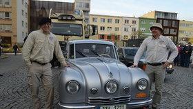 Po 18. hodině cestovatelé dorazili na náměstí do Zlína.