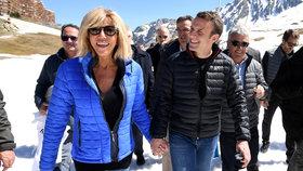 Emmanuel Macron s manželkou Brigitte Trogneuxovou