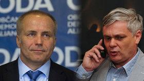 Šéf ODA Pavel Sehnal (vlevo) si byl pro radu i u exministra Vlastimila Tlustého.