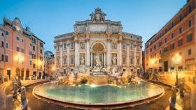 Fontána di Trevi v Římě