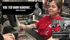 Prodavačka s hákovým křížem baví internet. Lidová tvořivost opět boduje.