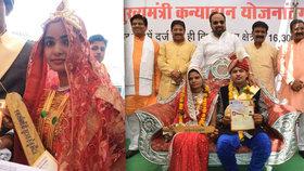Indické nevěsty dostaly pálky na obranu před manželi.