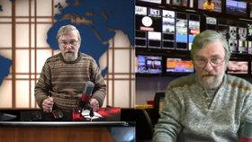 Zpravodajství Petra Černého na internetu: Takhle vypadá on a jeho studio.
