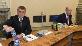 Premiér Sobotka a vicepremiér Babiš si na vládě neodsedli.