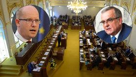 TOP 09 chce rozpustit Sněmovnu.