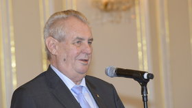 Premiér Bohuslav Sobotka na Hradě u prezidenta Miloše Zemana
