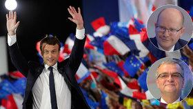 Emmanuel Macron vyhrál francouzské volby, gratulují mu i Sobotka s Kalouskem.