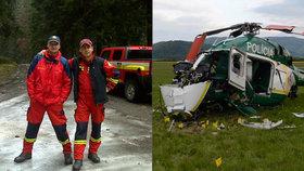 Hasiči Radoslav Lacko a Peter Toďor zahynuli při pádu vrtulníku u Prešova.