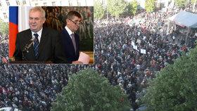 """Zeman prý """"torpédoval"""" Sobotku a kvůli Babišovi vyjdou lidé znovu do ulic."""