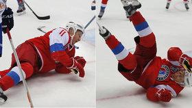 Putin se předvedl při šampionátu v Soči v akci přímo na ledě.