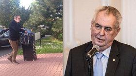 Prezident Miloš Zeman odlétá do Číny a bere sebou více než 40 lidí.