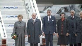 Finský prezident Mauno Koivisto s vůdcem SSSR Michailem Gorbačovem