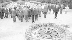 Finský prezident Mauno Koivisto na návštěvě SSSR