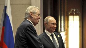 Miloš Zeman se v Číně setkal i s Vladimirem Putinem.